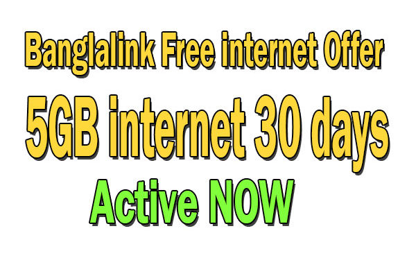 Banglalink Free internet offer  5GB 30 Days | Banglalink internet offer