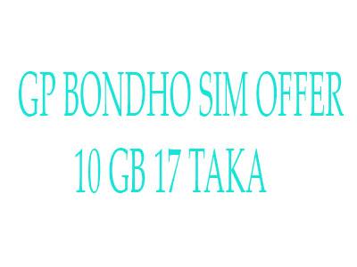 Gp-bondho-sim-offer-10-gb-17-taka
