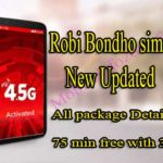 Robi Bondho Sim offer  September 2019: All robi  internet Package reactivation