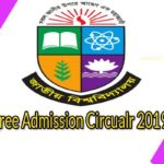 Degree admission Circular 2019-20: National University Admission