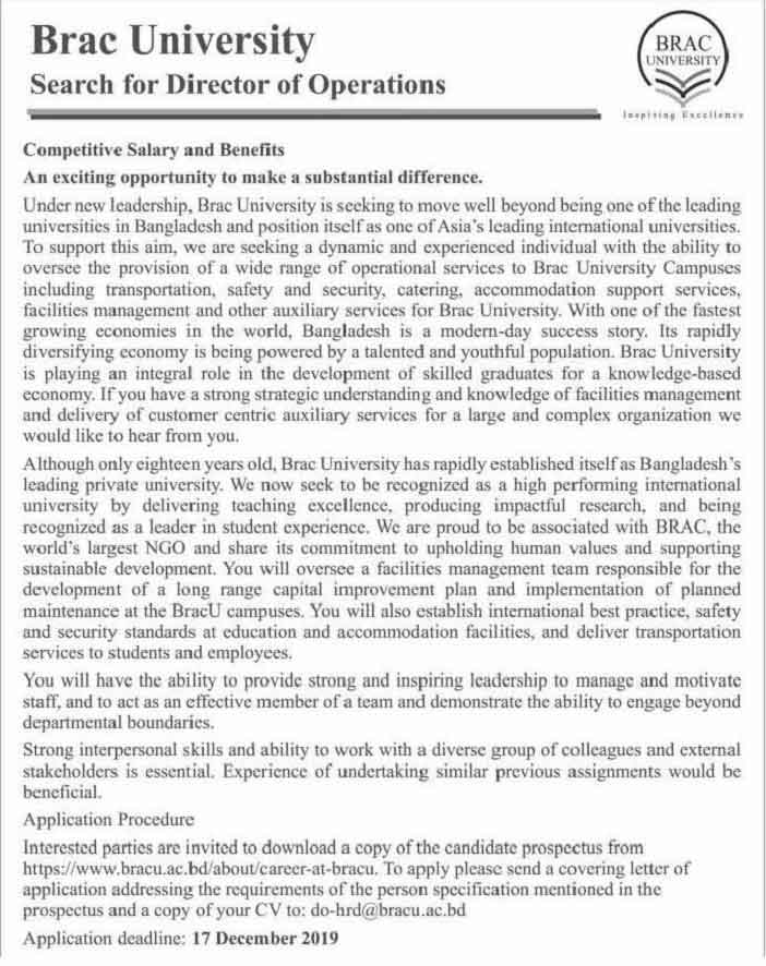 Brac-university-Job-circular